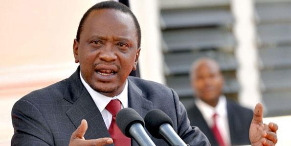 Uhuru Kenyatta, the incumbent president