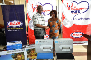 Two HP Printers and four office chairs were donated to the Ghana News Agency