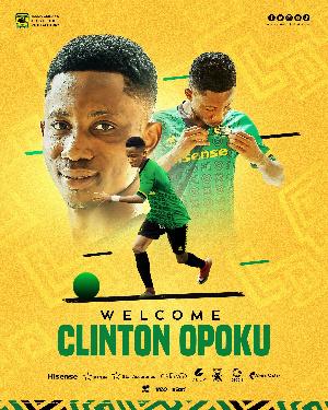 Asante Kotoko's new signing, Clinton Opoku