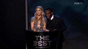 Essien was on stage to announce the winner of the award alongside  Anouk Hoogendijk