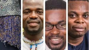 From left to right: Anas Aremeyaw Anas, Manasseh Azure, Nana Appiah Mensah and Franklin Cudjoe