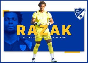 Goalkeeper Razak Brimah was voted the best goalkeeper in the Spanish fourth-tier this season