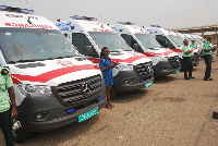 18 ambulances were handed over to the Volta Regional Coordinating Council