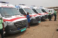 File photo of the national ambulances