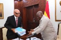 President Nana Addo Dankwa Akufo-Addo and Emile Short