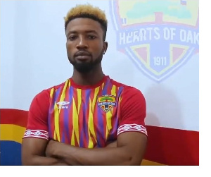 Hearts of Oak new striker Bernard Arthur