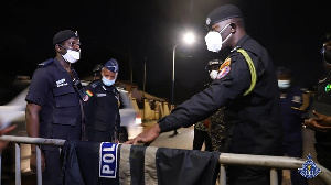 COP George Akuffo Dampare joined some patrol teams at dawn on Friday