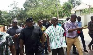 Koku Anyidoho(in black) in the company of NDC General Secretary Asiedu Nketia