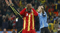 Asamoah Gyan in shock after missing the penalty