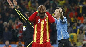 Ghana lost to Uruguay at the quarter-finals of the 2010 World Cup
