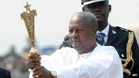 John Mahama won the 2012 election by a slender margin