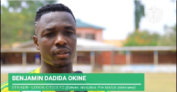 Legon Cities forward Benjamin Okine worried by three game winless run