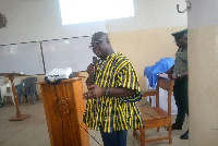 Out-going Deputy Bono Regional Commander of the GIS, Chief superintendent Henry Duku Ackah