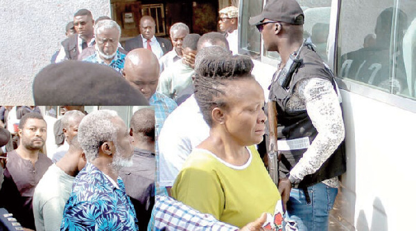 The alleged coup plotters, which includes a Police Commissioner, were charged with high treason