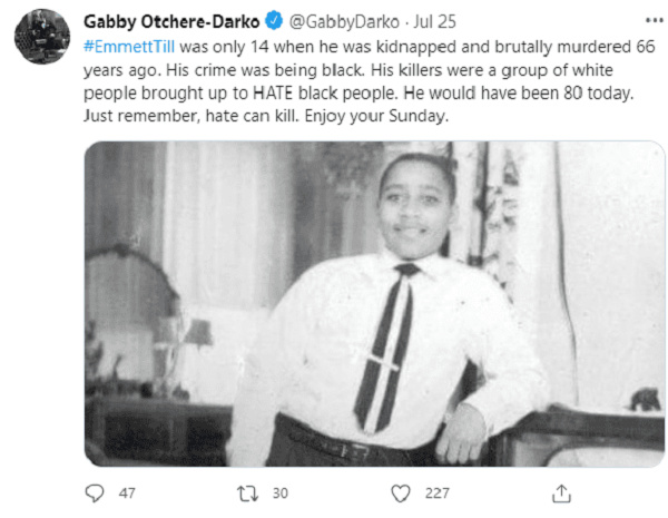 'Remember, hate can kill' – Gabby campaigns 2