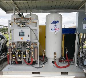 Oxygen generation equipment donated by US ambassador Sullivan to Ghana