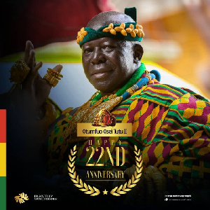 Osei Tutu II is the 16th Asantehene who was enstooled on 26 April 1999