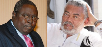 Jerry John Rawlings,Former President of Ghana (R) and Martin Amidu, Special Prosecutor (L)