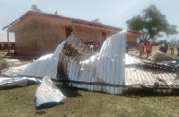 One of the affected schools in the Kassena-Nankana West roof ripped of by the rainstorm