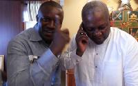 Former deputy Energy Minister John Jinapor and former President Mahama