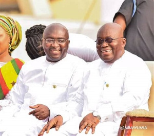 President Akufo Addo (R) And Vice President Dr Bawumia (L)