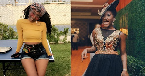 Wendy Shay  (L) and late Ebony Reigns (R)