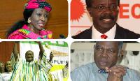 Nana Konadu (Top L) Papa Kwasi Nduom (Top R). Hassan Ayariga (Bottom L) Dr. Edward Mahama (Bottom R)
