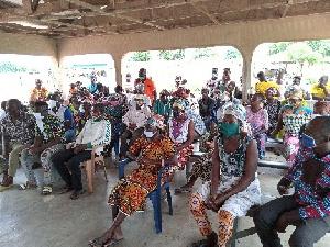 Chiana community members at the sensitization programme