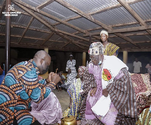 Information Minister, Kojo Oppong Nkrumah thanked the Paramount Chief for the recognition