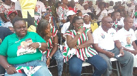 Some aggrieved NDC supporters at the sod cutting of the Eastern University