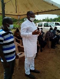 Governs Agbodzah, Member of Parliament of Adaklu in white