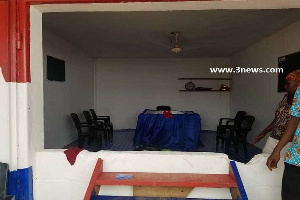 The NPP constituency office was deserted when the MP and his supporters got there