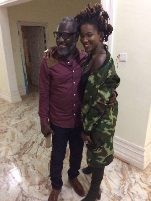 The late Ebony and father, Starboy Kwateng