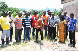 Municipal Chief Executive, Simon Kweku Tetteh pictured at a sod cutting ceremony