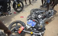 Most of the vehicles involved in accidents are motorbikes