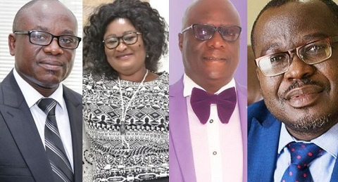 Paul Asare Ansah, Gifty Kekeli Klenam, Dr. Felix Anyah and Alfred Obeng have been fired