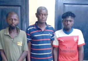 Left to right: Anane Kofi Konye, Kwaku Agyapong and Isaac Adota