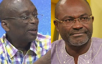 Kweku Baako, Managing Editor of the New Crusading Guide newspaper and  Kennedy Agyapong