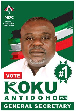 Koku Anyidoho is a former deputy General Secretary of the NDC.