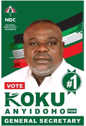 Koku Anyidoho is seeking to become the General Secretary of NDC