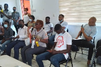 Participants at the national acceleration programme run by Ghana Tech Lab