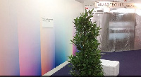 An empty Ghana stand at the international trade fair in Frankfurt, Germany