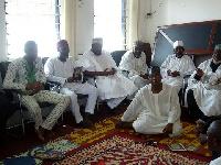Aziz Haruna with the elders of Nasara