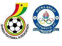 Ghana FA  and Accra Great Olympics logo