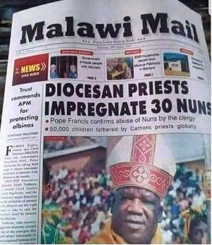 Malawian Diocesan impregnated 30 nuns