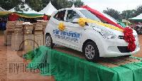 The car was donated by Martin Adjei Mensah-Korsah, the Deputy Minister for Regional Re-organization