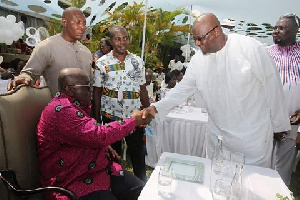 President Akufo-Addo and Former NPP Chairman Paul Afoko