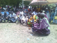 Nabugbelle Kingmakers outdooring their chief Kuoro Alhaji Alhassan Dubie IV