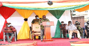 President Nana Akufo-Addo delivering a speech at the event