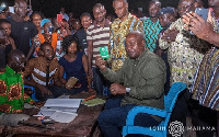 Mr Mahama shared pictures of his registration and meeting on social media